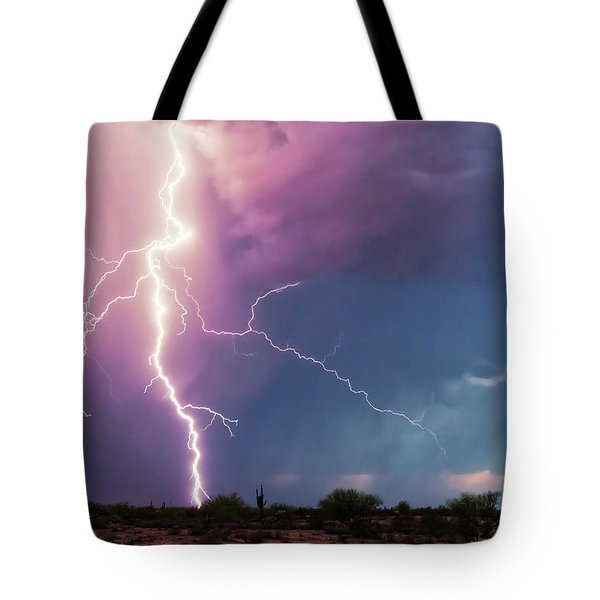 Tote Bag featuring the photograph Lightning Dancer by Rick Furmanek