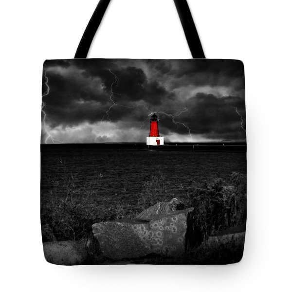 Lightning House Tote Bag