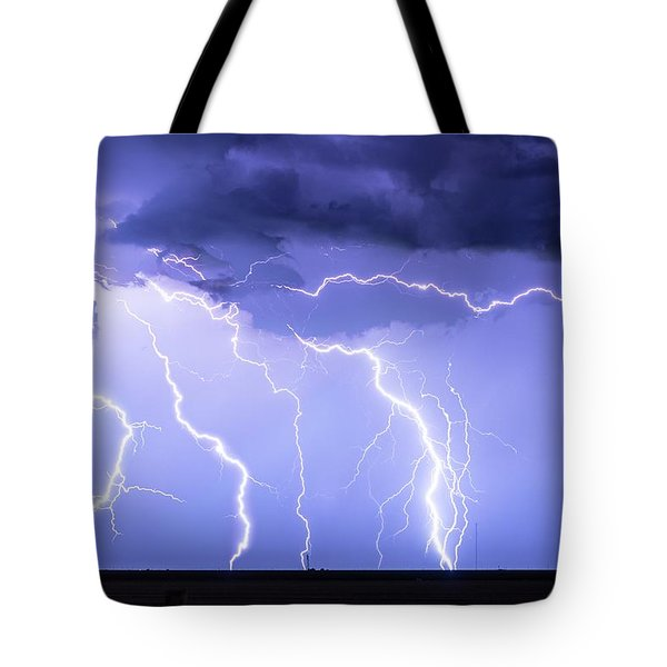 Lightning On The Plains Tote Bag