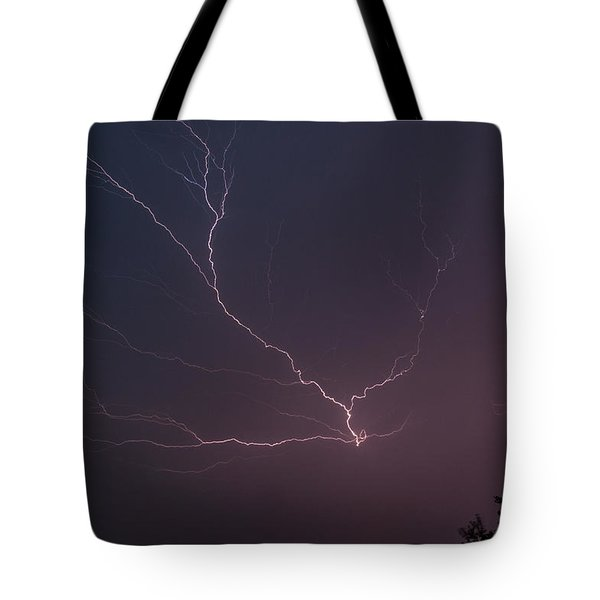 Lightning Over Lake Lanier Tote Bag by Michael Sussman