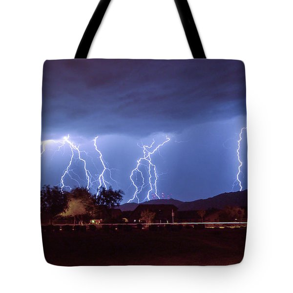 Lightning Over Laveen Tote Bag