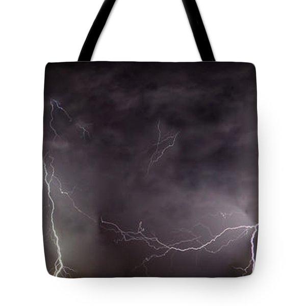 Lightning Over Perris Tote Bag