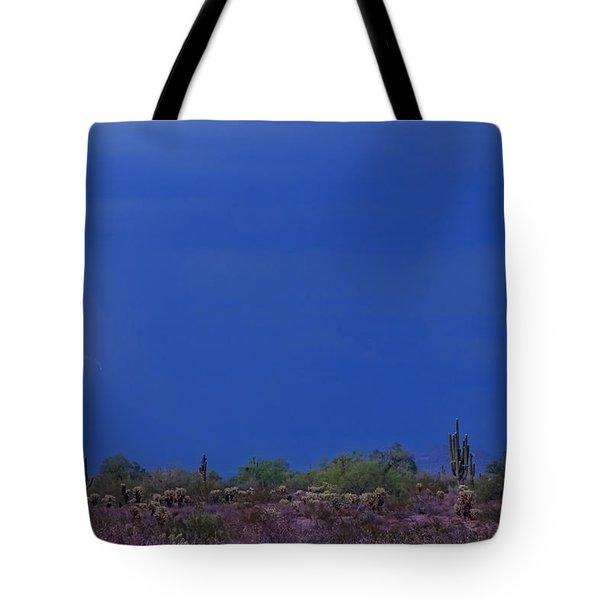 Lightning Strike In The Desert Tote Bag by James BO  Insogna