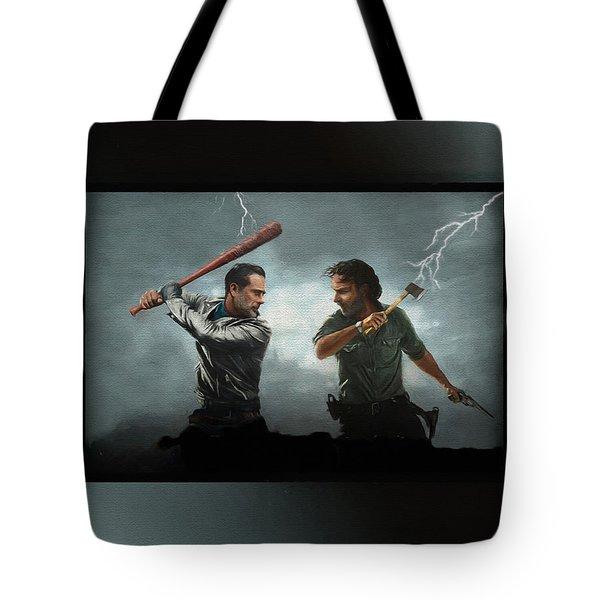Lightning Striking Again - Painting Tote Bag