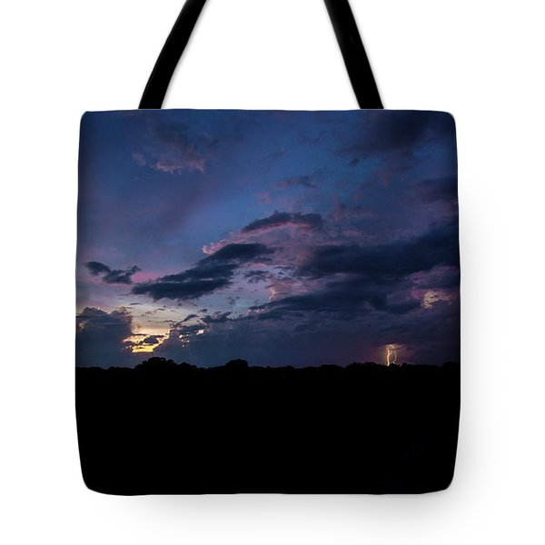 Lightning Sunset Tote Bag
