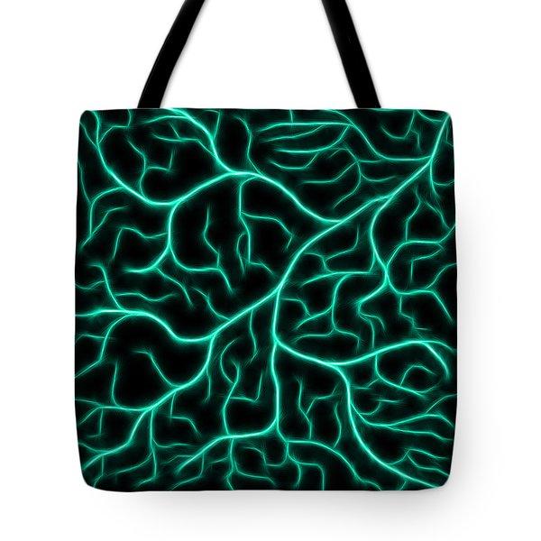 Lightning - Teal Tote Bag