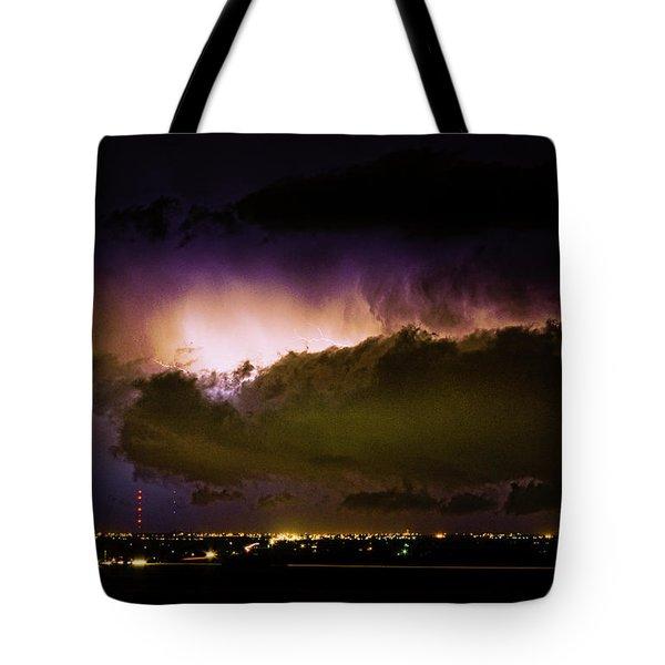 Lightning Thunderstorm Cloud Burst Tote Bag by James BO  Insogna
