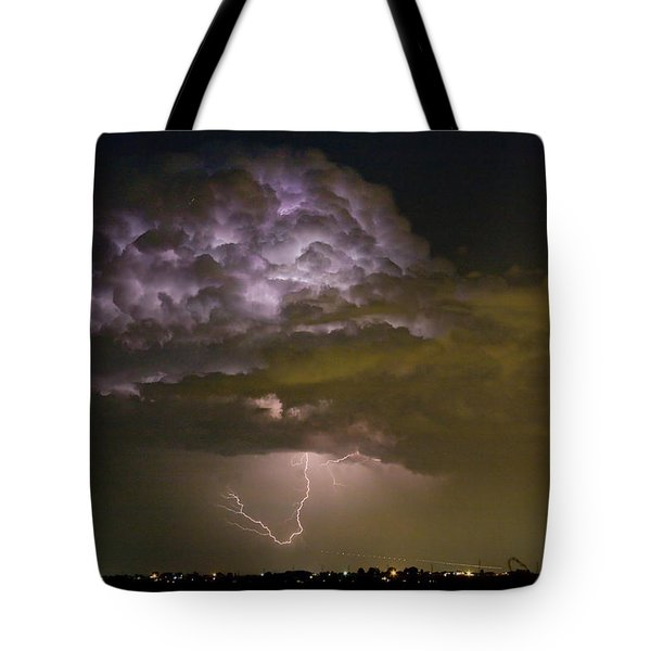Lightning Thunderstorm With A Hook Tote Bag by James BO  Insogna