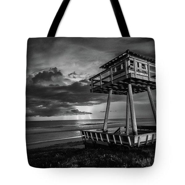 Lightning Watch Tower Tote Bag