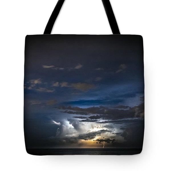 Lightning's Water Dance Tote Bag