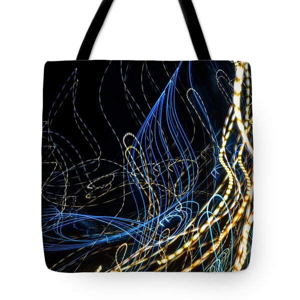 Lightpainting Single Wall Art Print Photograph 8 Tote Bag