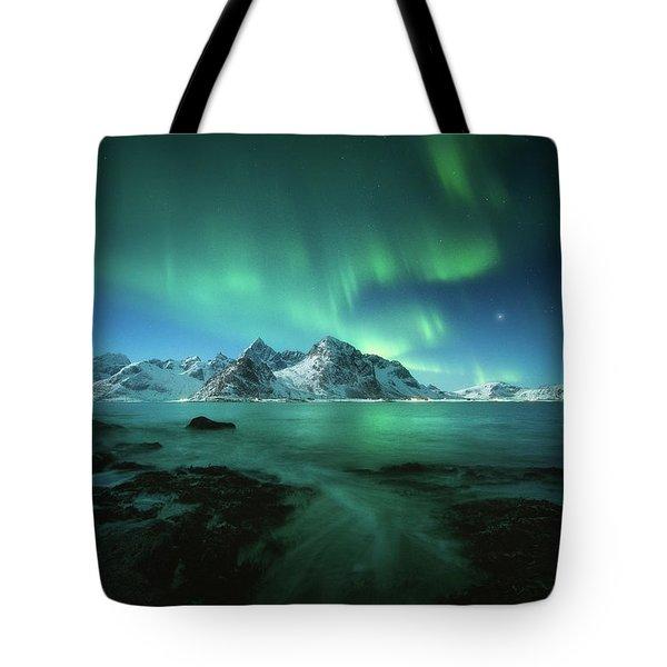 Lights Above Lofoten Tote Bag