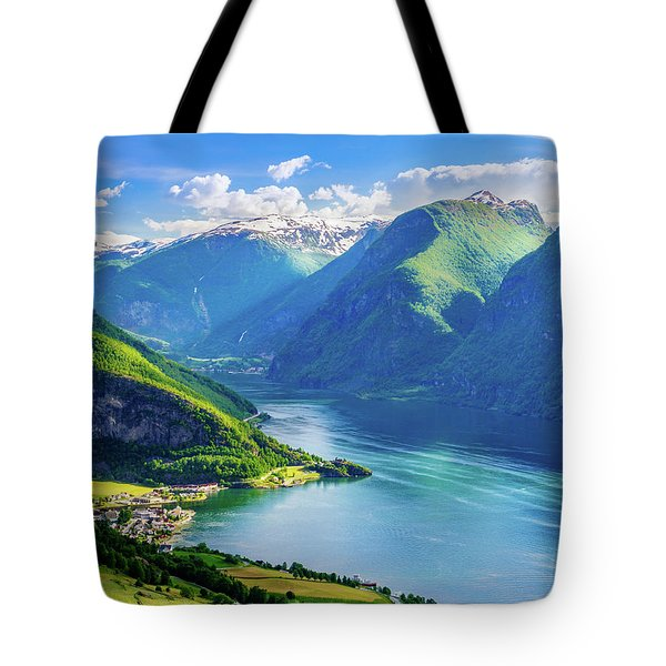 Tote Bag featuring the photograph Lights And Shadows Of Sognefjord by Dmytro Korol