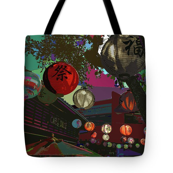 lights are on in little Tokyo Tote Bag