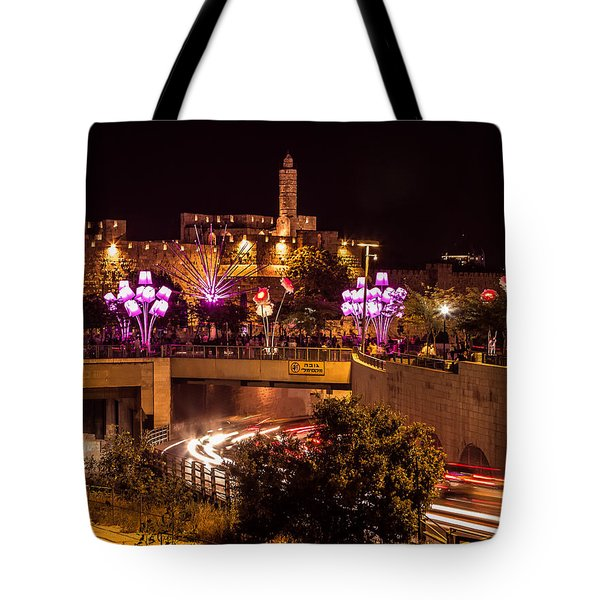 Lights In Jerusalem Tote Bag