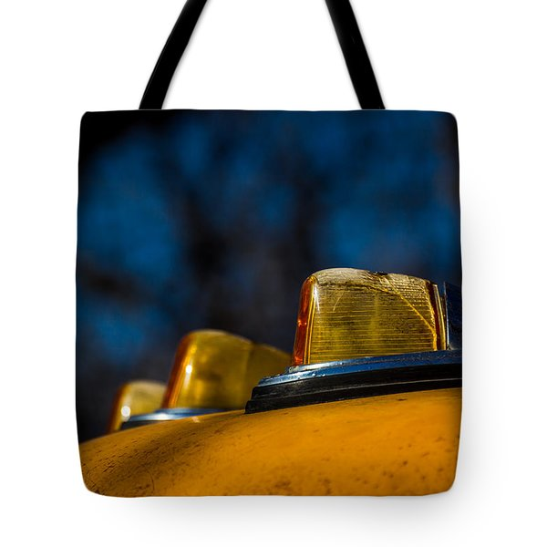 Tote Bag featuring the photograph Lights by Jay Stockhaus