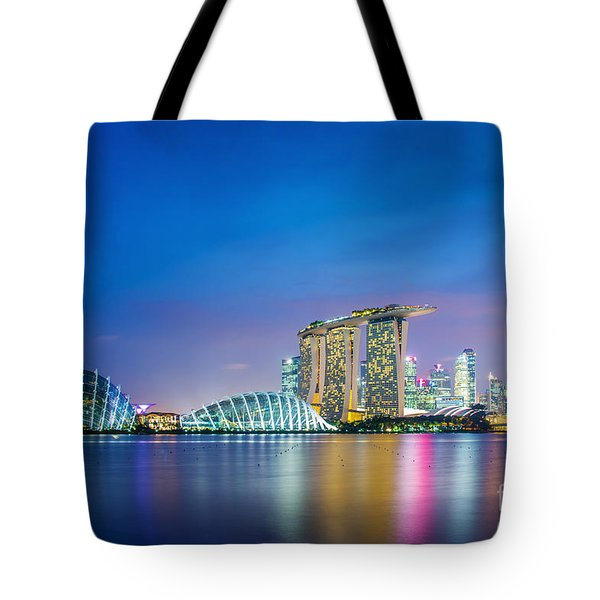 Lights Of Singapore Tote Bag