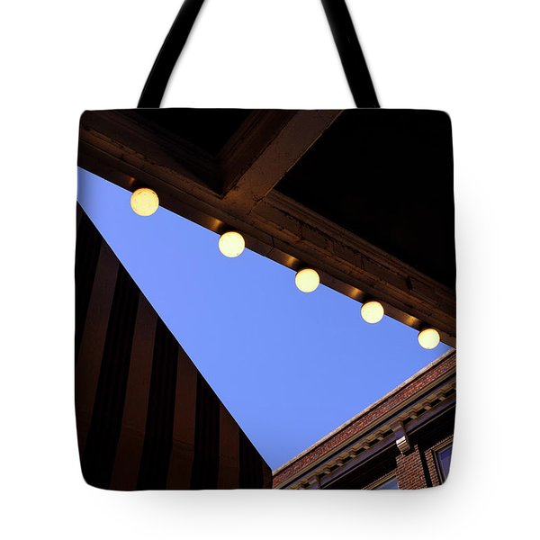 Lights Roofs And Triangles In Frederick Maryland Tote Bag