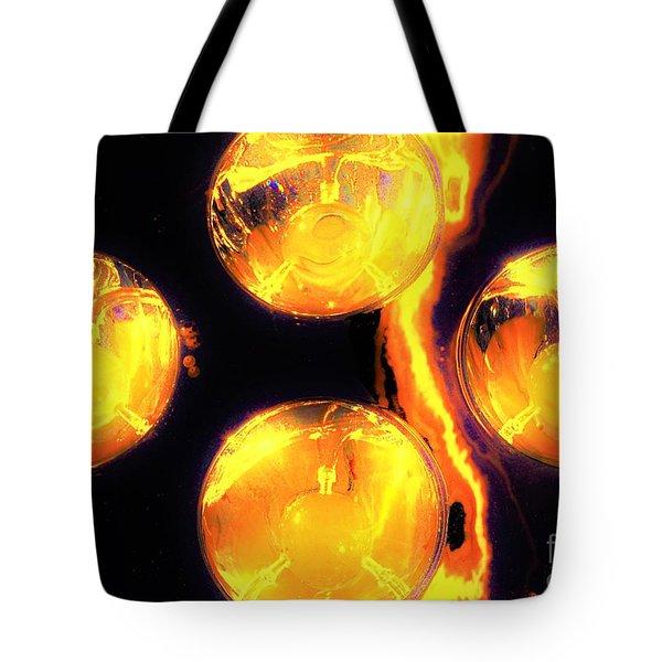 Lights Under Glass3 Tote Bag