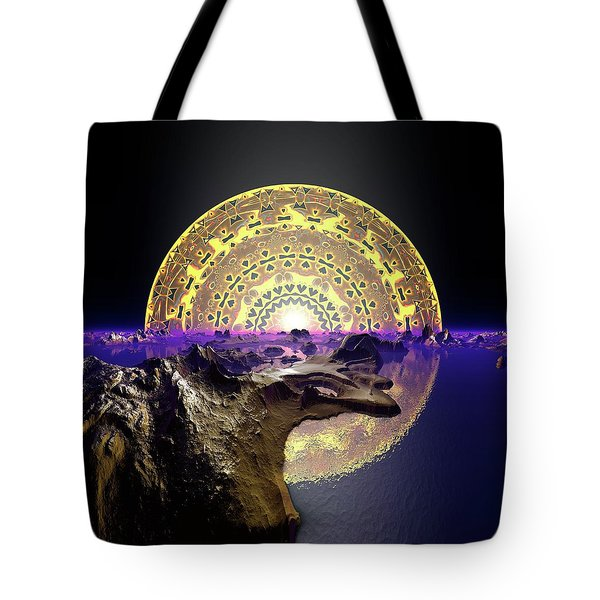Tote Bag featuring the digital art Lightscape 24 by Robert Thalmeier