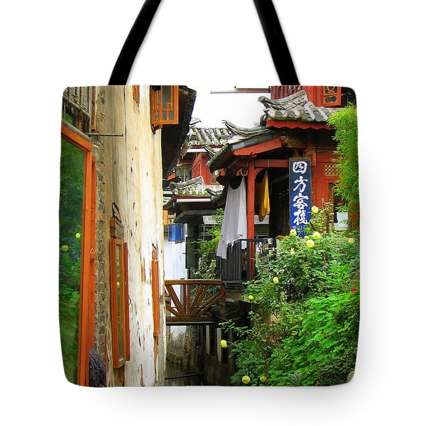 Lijiang Back Canal Tote Bag