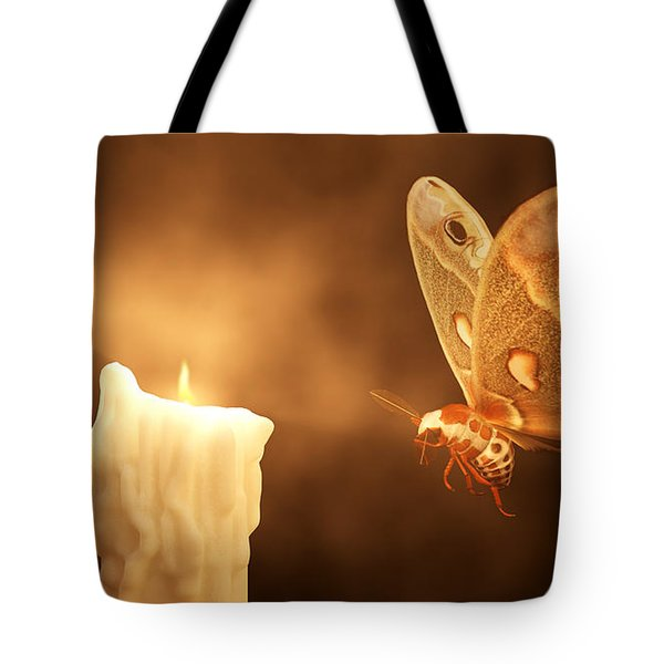 Like A Moth To A Flame Tote Bag by Daniel Eskridge