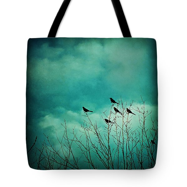 Tote Bag featuring the photograph Like Birds On Trees by Trish Mistric