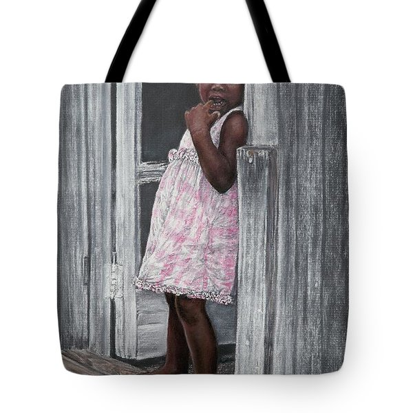 Lil' Girl In Pink Tote Bag