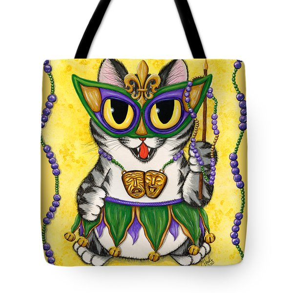 Lil Mardi Gras Cat Tote Bag