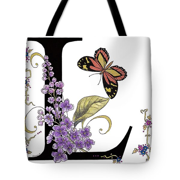 Lilac And Large Tiger Butterfly Tote Bag