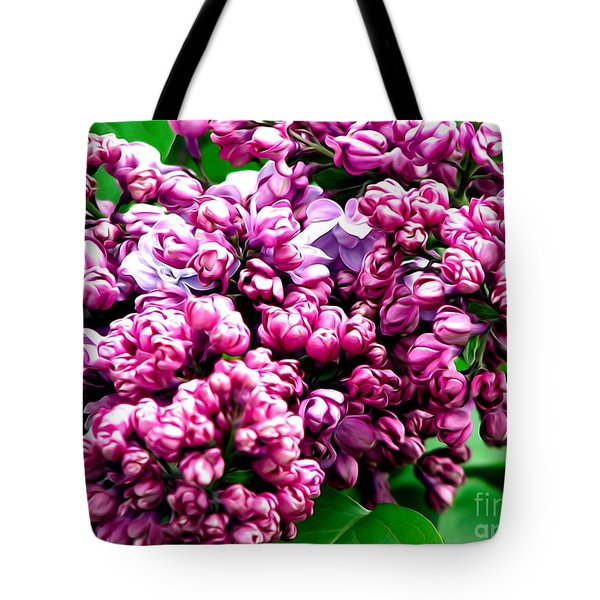 Lilac Blossoms Abstract Soft Effect 1 Tote Bag