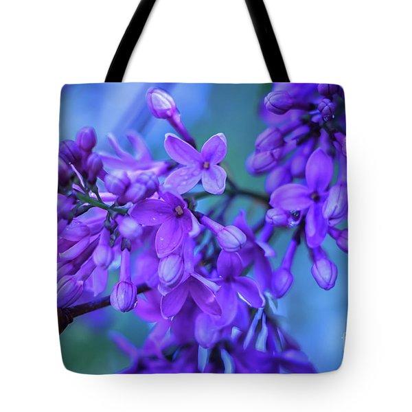 Lilac Blues Tote Bag