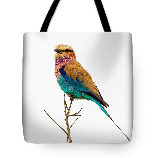 Tote Bag featuring the photograph Lilac-breasted Roller by Stefan Nielsen