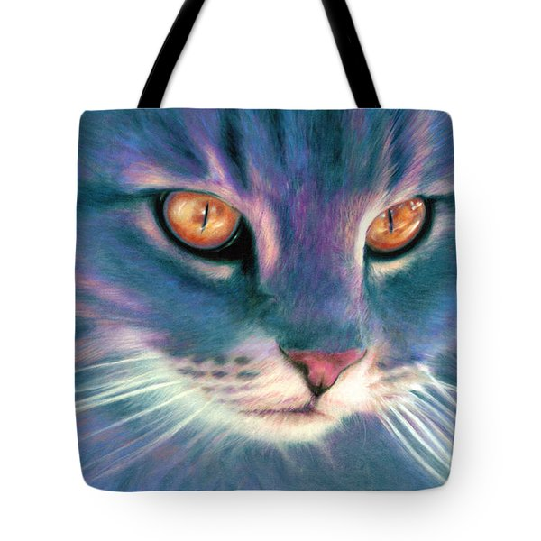 Lilac Cat Tote Bag by Ragen Mendenhall