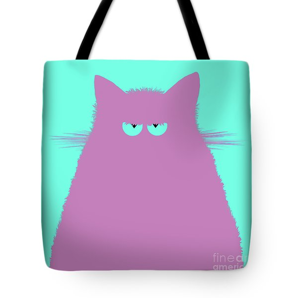 Lilac Cat Tote Bag