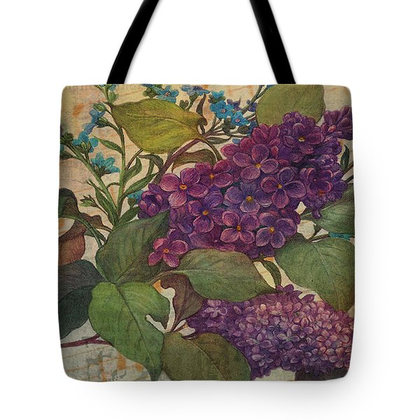Lilac Dreams Illustrated Butterfly Tote Bag by Judith Cheng
