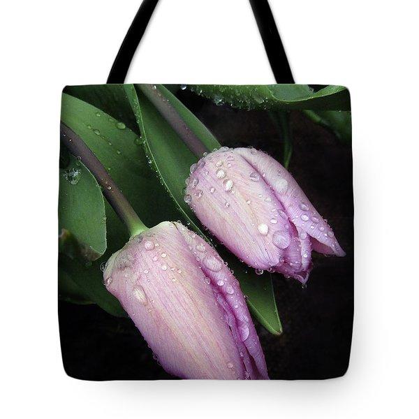 Lilac Drops Tote Bag