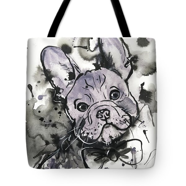 Lilac Frenchie Tote Bag