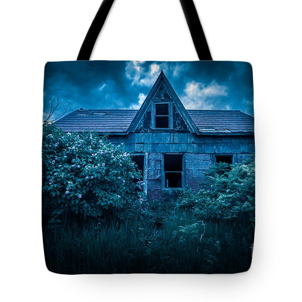 Lilac House Tote Bag
