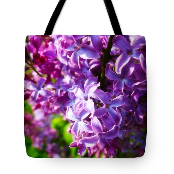 Lilac In The Sun Tote Bag by Julia Wilcox