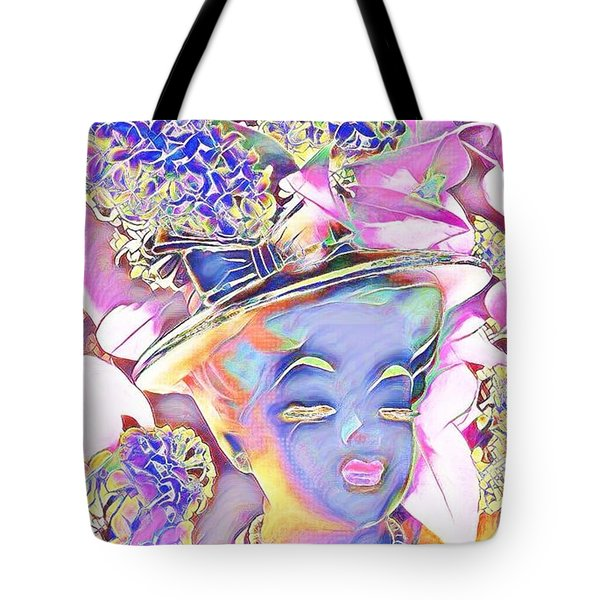 Lilac Tote Bag by Karen Newell