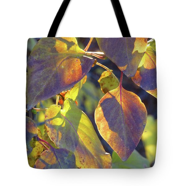 Lilac Leaves Tote Bag
