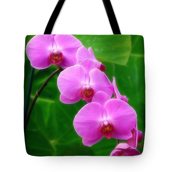 Lilac Orchid Beauties Tote Bag by Sue Melvin