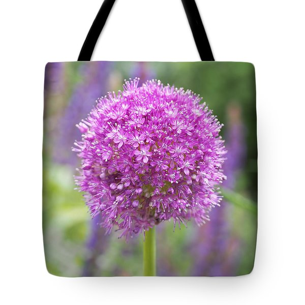 Lilac-pink Allium Tote Bag