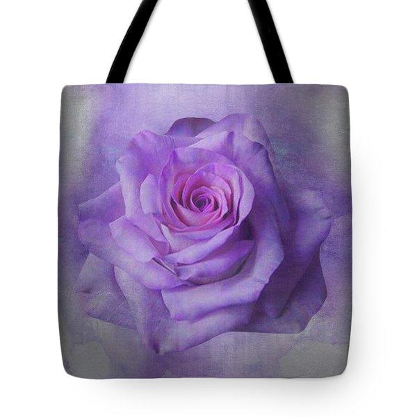 Lilac Purple Rose Tote Bag