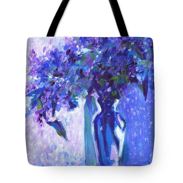 Lilac Rain  Tote Bag