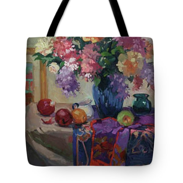 Lilacs And Peonies Tote Bag