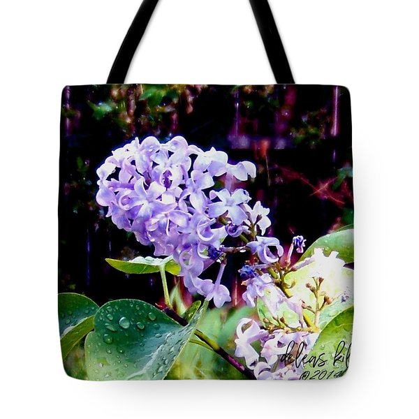 Tote Bag featuring the photograph Lilacs by Deleas Kilgore
