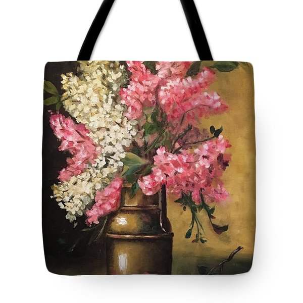 Lilacs Tote Bag by Sharon Schultz