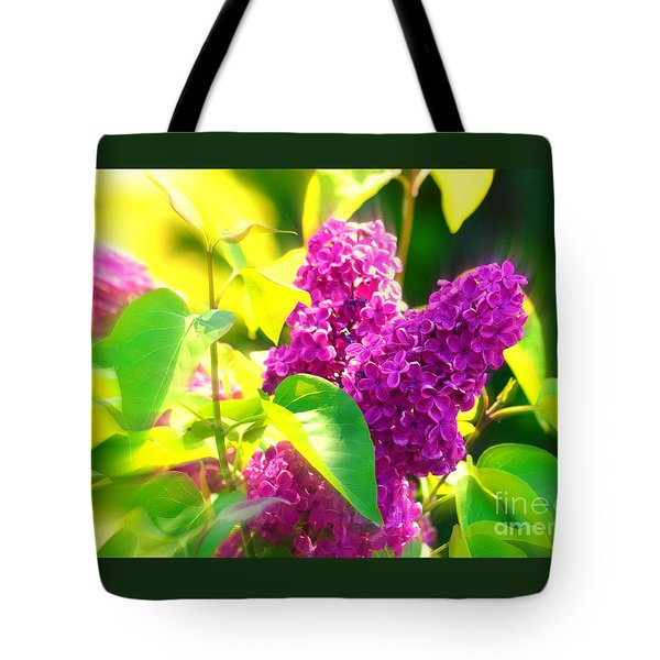 Tote Bag featuring the photograph Lilacs by Susanne Van Hulst